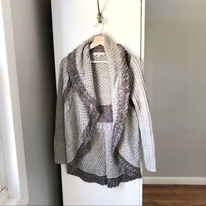 CABI chunky knit 100% cotton open cardigan 625A